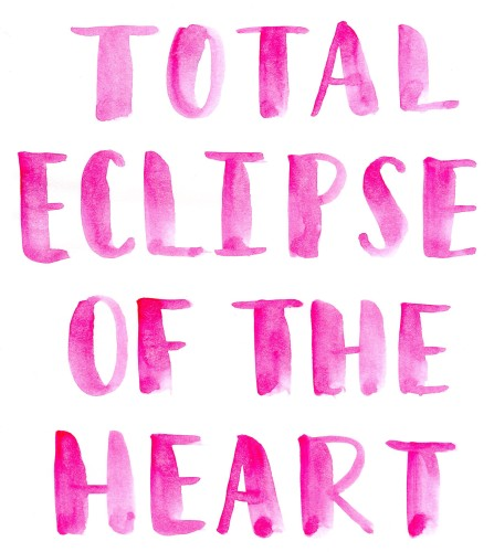 Sunday Song Journal #5: Total Eclipse of the Heart