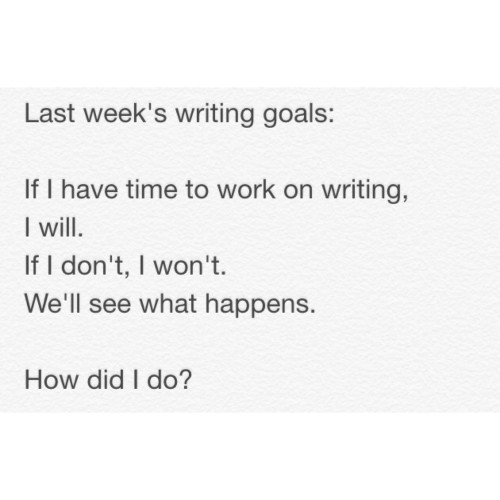 Writing Check In #5: This Week in Writing